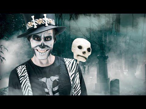 Tuto maquillage Halloween Squelette adulte - DeguiseToi - YouTube