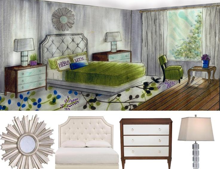 Interior Design Hand Rendering By TamaraBInteriors