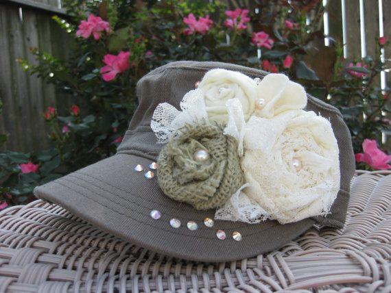 Military Cadet Hat Cadet Hat Military Hat by rosepetalpretties, $26.00