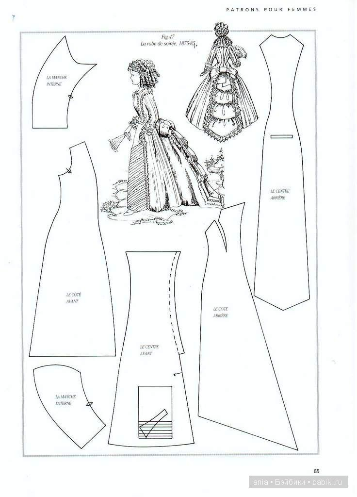 Patterns vintage dresses / Workshops, creative workshop: lessons circuit patterns for dolls, with their hands / Beybiki. Photo Dolls. Clothes for dolls