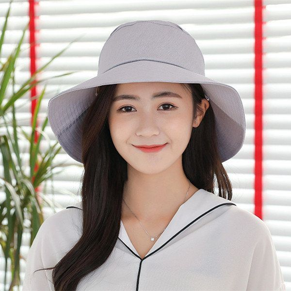 Womens Cotton Solid Bow Bucket Hats Vintage Vogue Formal Hat Cloche Elegant Suns… – Hutmodelle