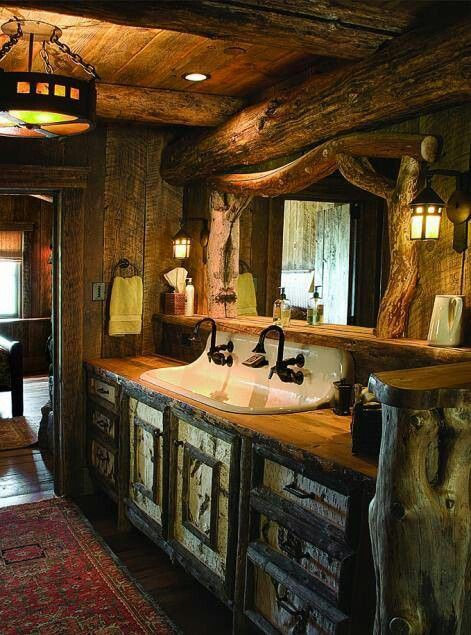419 Best Images About Bathrooms Rustic On Pinterest