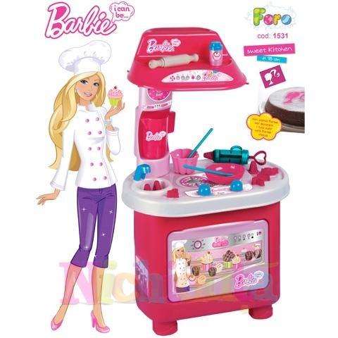 FARO Bucatarie Barbie Cofetaria Vesela - http://www.outlet-copii.com/outlet-copii/jucarii-copii/jucarii-fete/faro-bucatarie-barbie-cofetaria-vesela/ -