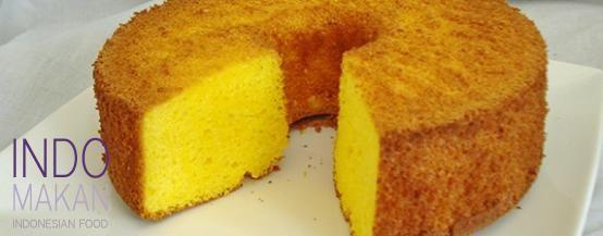 Kue Chiffon Nanas - Very airy cake with fresh pineapple