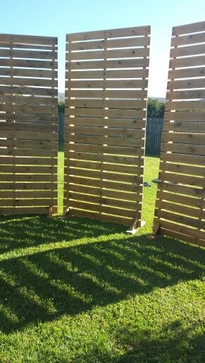 Our hand made pallet screens