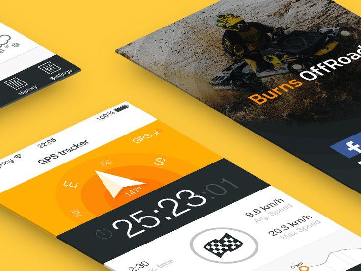 App design - GPS Tracker