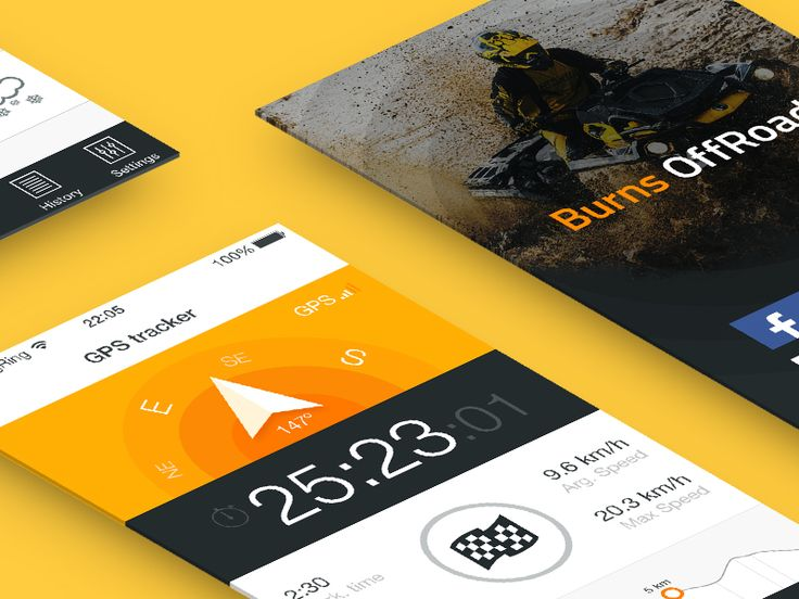 App design - GPS Tracker