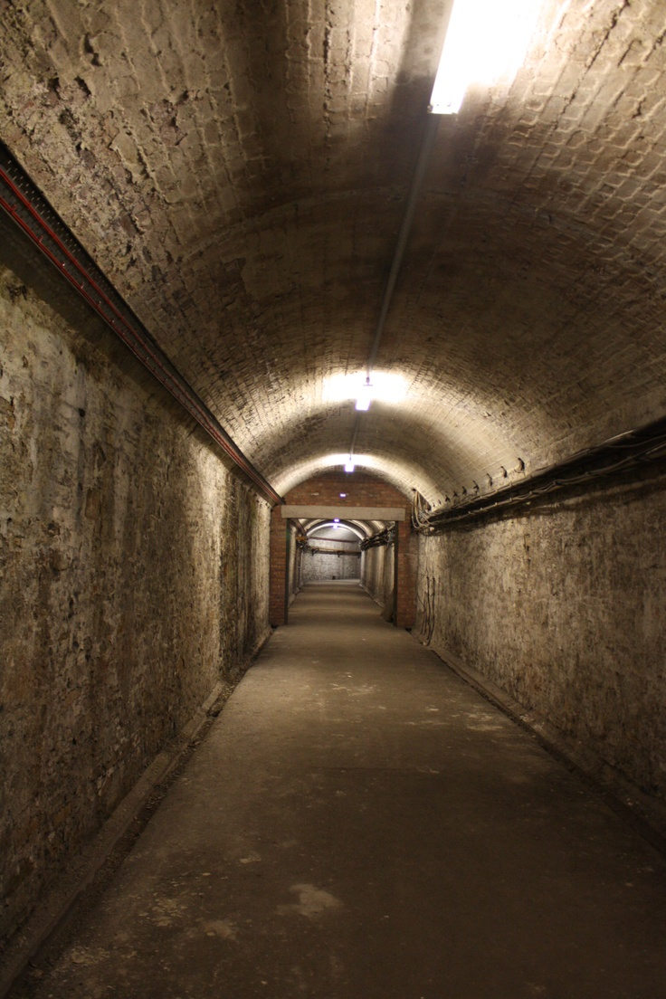 Tunnels under Temple Meads Station, Bristol, UK.