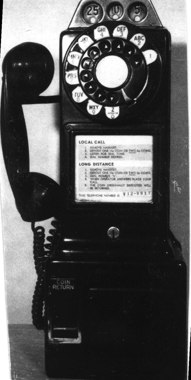 1956 Automatic Electric Co Pay Station Telephone 1974.0704