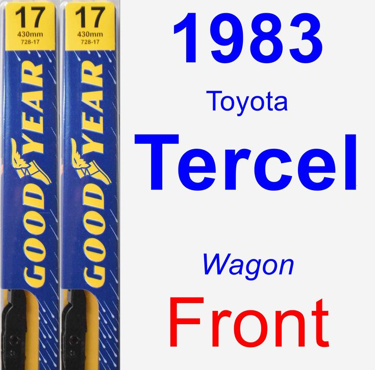 Front Wiper Blade Pack For 1983 Toyota Tercel
