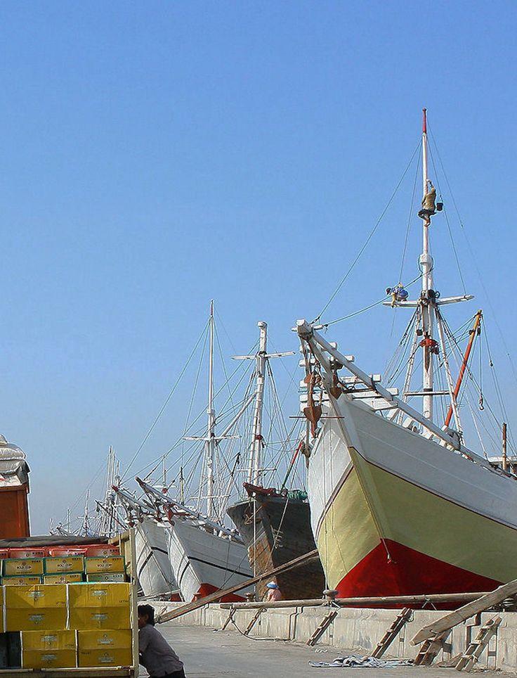 Activity at Sunda Kelapa Old Port, West Jakarta.