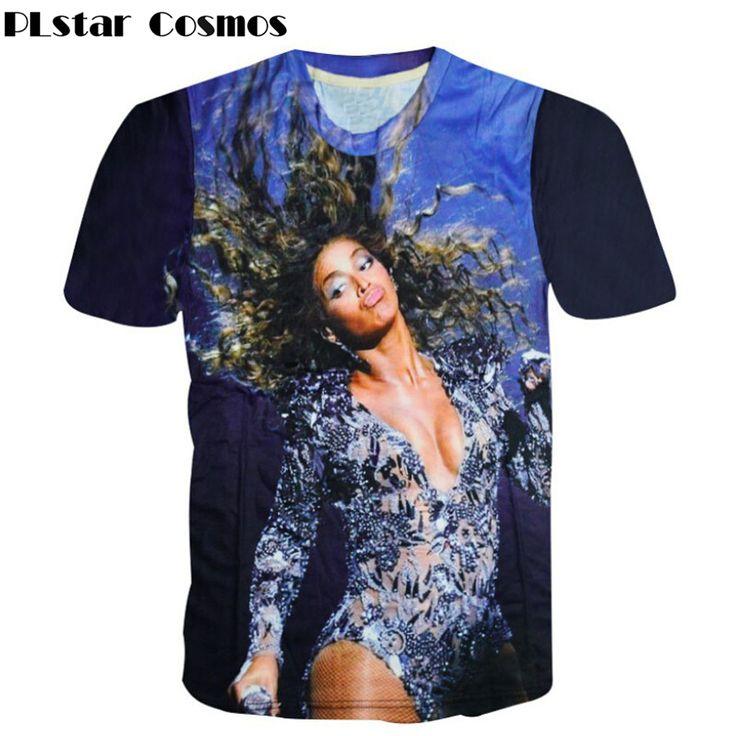 >> Click to Buy << PLstar Cosmos 2017 Summer style Sexy Beyonce 3d print t shirt Women/Men t shirt hip hop punk t shirt fashion tees Drop Shipping #Affiliate