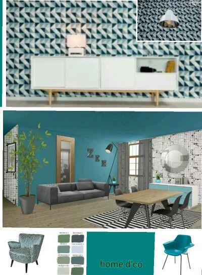 373 best images about carreaux de ciment on pinterest ceramic design vinta - Decoration bleu canard ...