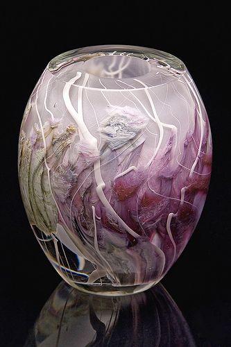 Jon Goldberg Art Glass Purple Thicket series