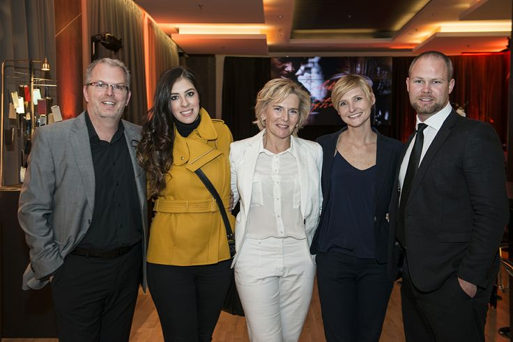 The curators of the night from Opulent Living sharing a photo with the Distell team. From left to right: Florian Gast, Sabrina Schenk, Barbara Lenhard, Shelley Else and Nicholas Holdcraft
