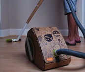 the world's first cardboard vacuum cleaner, designed by Loughborough University student, Jake Tyler.