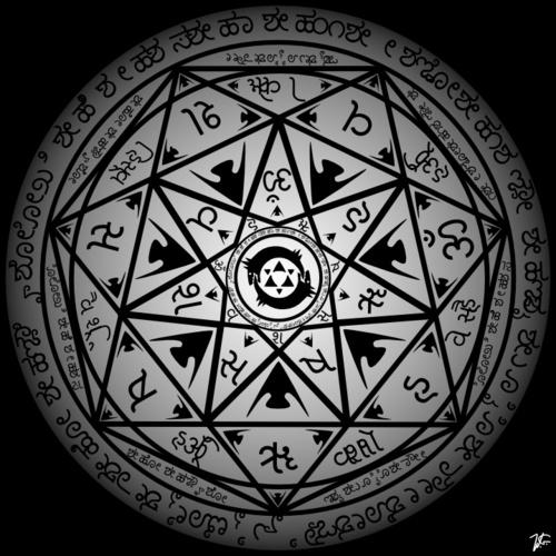 Transmutation Circle Tattoo: Tiredmomentsintopleasure: Transmutation Circle By Wojtas19