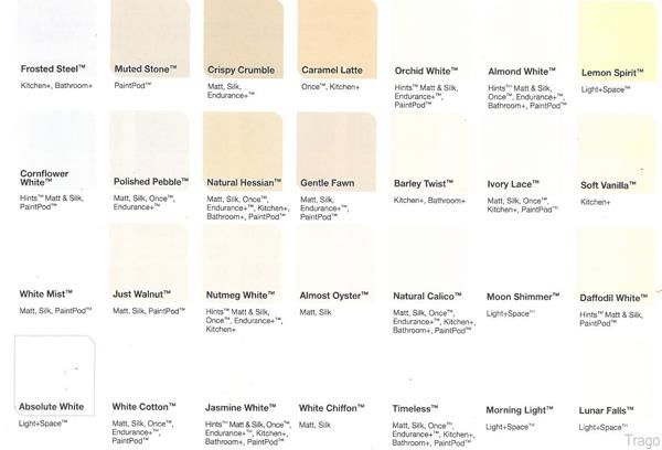 Dulux White Colour Chart Google Search Paints