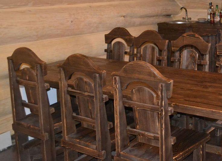 Состаренная мебель из дерева7