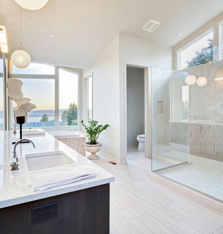 Contemporary Master Bathroom with Master bathroom, Undermount sink, Florida tile tides porcelain tile - sea salt 12x24