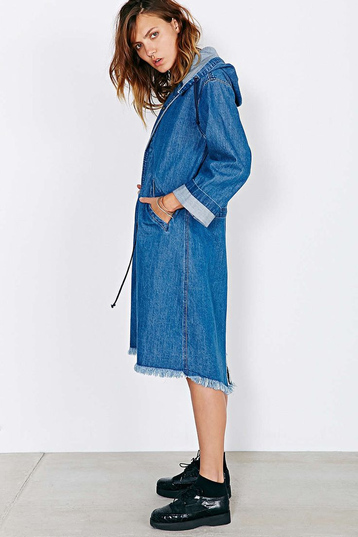 Hooded Denim Parka Urban Outfitters FW 2014