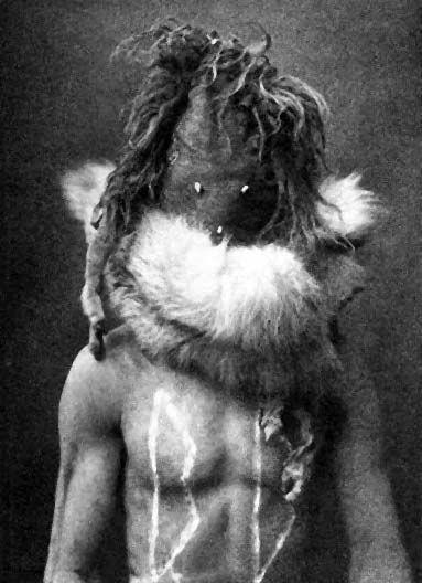 Nayenezgani - Navaho - Photo by Edward S. Curtis, 1904 - (B/w copy)
