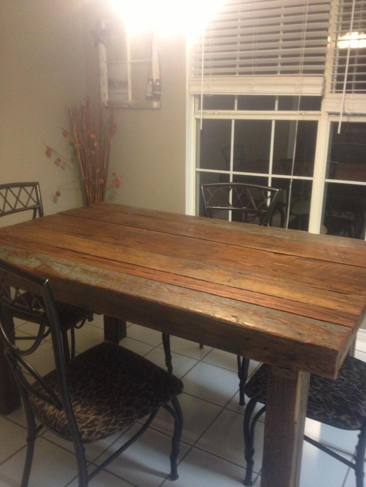 barn wood kitchen table - Barnwood Kitchen Table