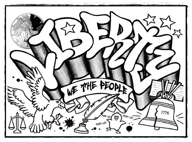 Graffiti Ausmalbilder Coole Zeichnungen zum Nachmalen ...
