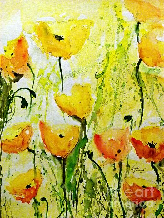 Abstract floral Painting  by Ismeta Greunwald