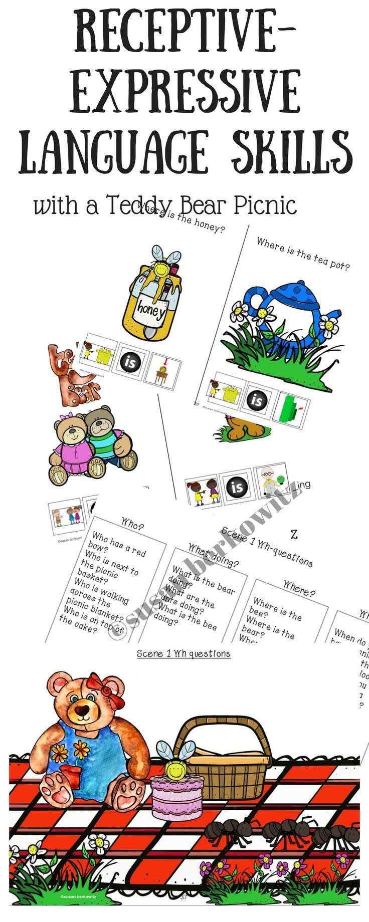 Teddy Bear Picnic Receptive And Expressive Language Skills Expressive Language Phrases And Sentences Language
