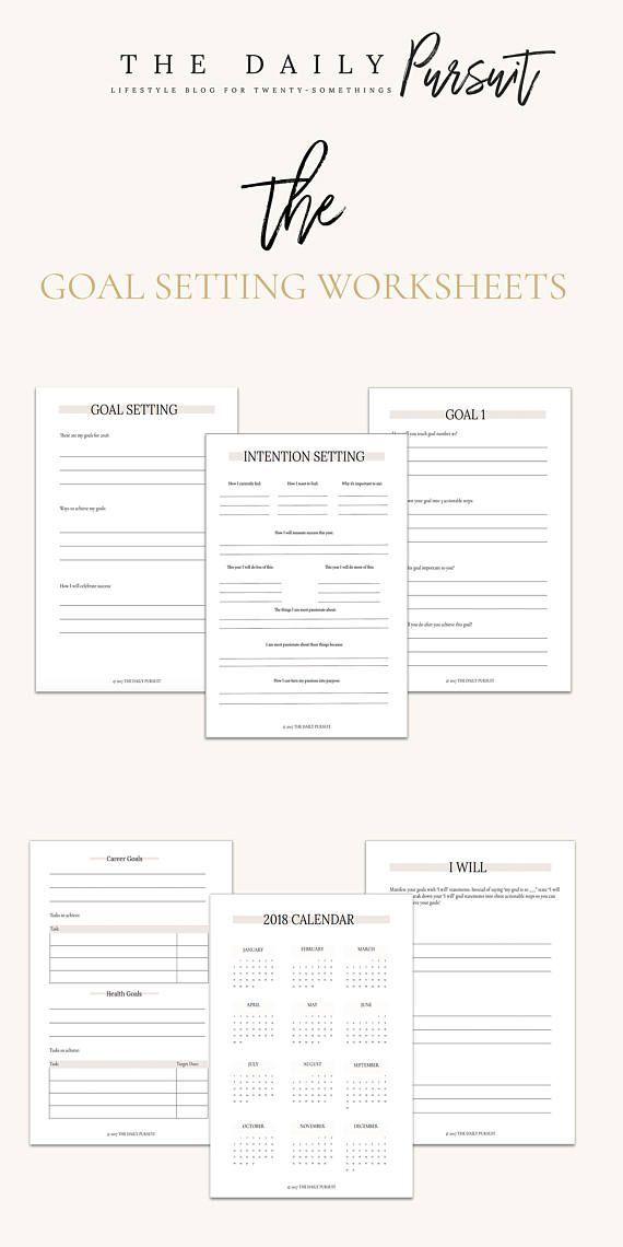 The  Best Goal Setting Worksheet Ideas On   Goals