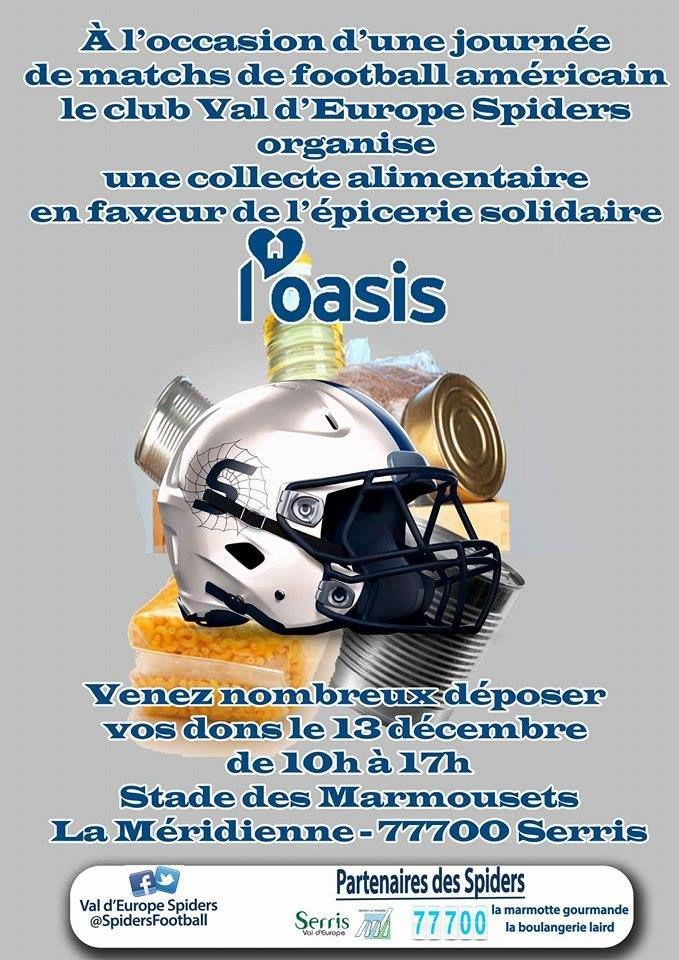 ►Serris : Les Spiders du Val d'Europe jouent au profit de l'Oasis le 13 décembre