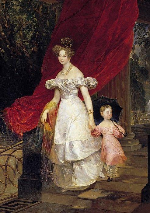 Портрет великой княгини Елены Павловны с дочерью Марией.. Карл Павлович Брюллов