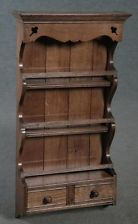 SOLID OAK HANGING SPICE RACK
