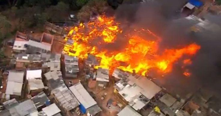 Incêndio ocorre após Prefeitura de Osasco intervir contra reintegração