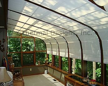 Screen Shades In Curved Four Seasons Sunroom Sunroom Shades In