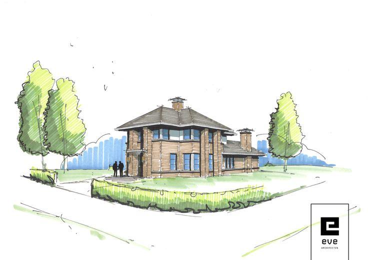 inspiratie schets klassieke villa_EVE Architecten