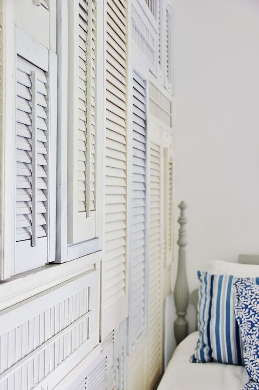 DIY:: Beautiful Fix For a Blank Wall ! A Shutter Wall Tutorial