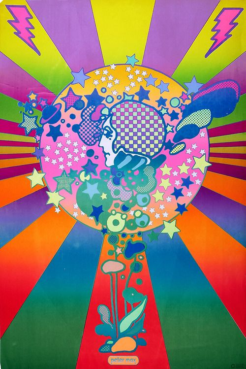 Adam Cosmo By Peter Max (1968) psychedlic