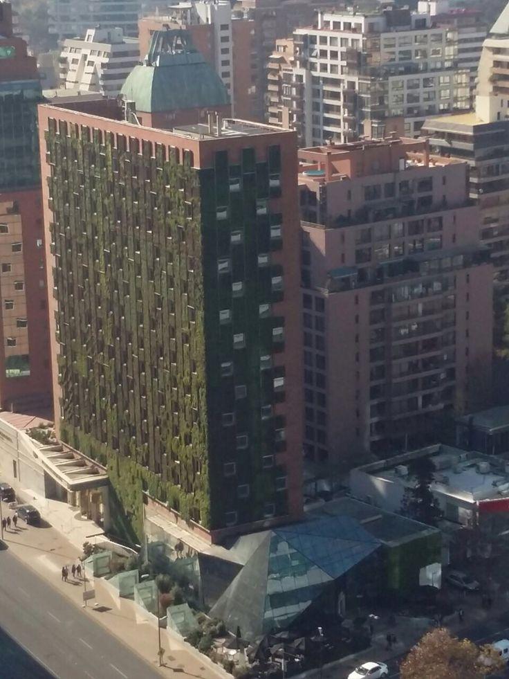 Green Wall Hotel Intercontinental Santiago Chilr