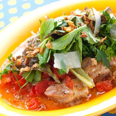 【レシピ有】ドレッシングで鶏肉を炒めることでしっかりとした味わいに。フライドオニオンの歯ごたえも楽しめる野菜たっぷりのメイン料理です♪ - 1143件のもぐもぐ - 鶏肉ソテーとたっぷり野菜のドレッシング和え by Reciple