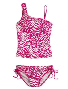 This is cute and I like it because it isn't a bikini, but it still is as stylish as one. I don't feel comfortable wearing a bikini so this is a great alternative for me!