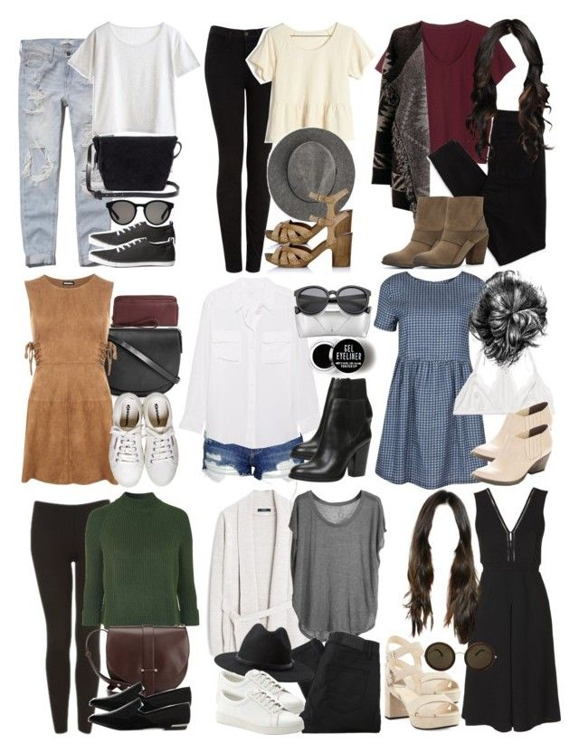 """""""Crystal Reed Inspired Outfits"""" by veterization ❤ liked on Polyvore featuring Abercrombie & Fitch, MTWTFSS Weekday, H&M, Topshop, Madewell, Linda Farrow, WearAll, J Brand, MANGO and Equipment"""