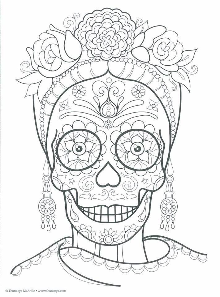 Dibujos para colorear el día de los muertos (53)
