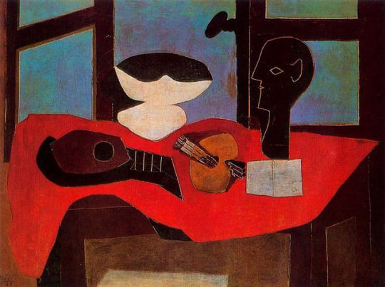 Still life with bust and palette, Pablo Picasso