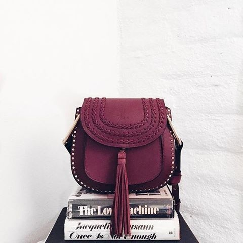 New bag color crush, the Chloé Hudson in sienna red. @collagevintage