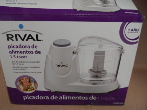 FOOD CHOPPER. 1.5 CUP. RIVAL.NEW