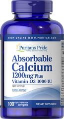 Absorbable Calcium 1200 mg with Vitamin D 1000 IU  100 Softgels 1200 mg/1000 IU $10.99
