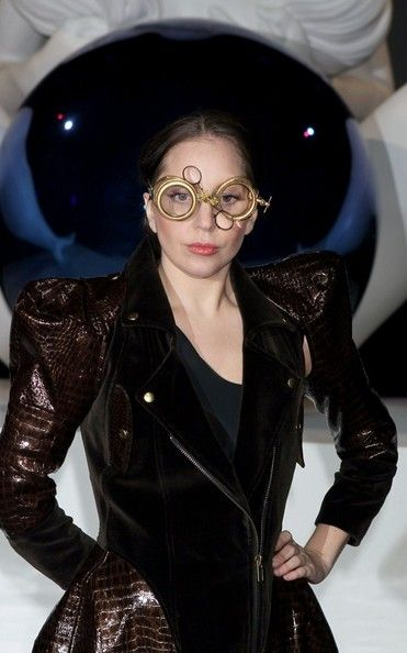 Lady Gaga celebrates the release of her new album at a party in Brooklyn on November 10, 2013.
