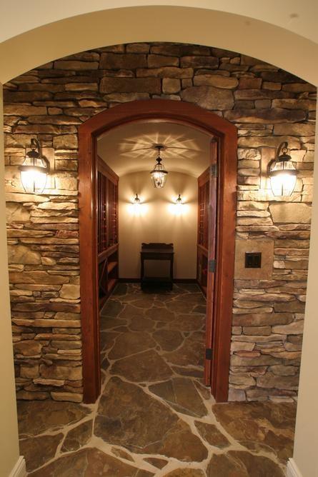 Stone Wine Cellar Entrance